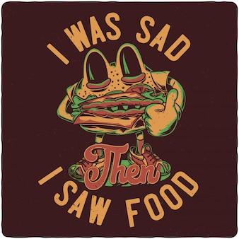 Un simpatico personaggio da hamburger