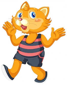 Un simpatico personaggio di gatto