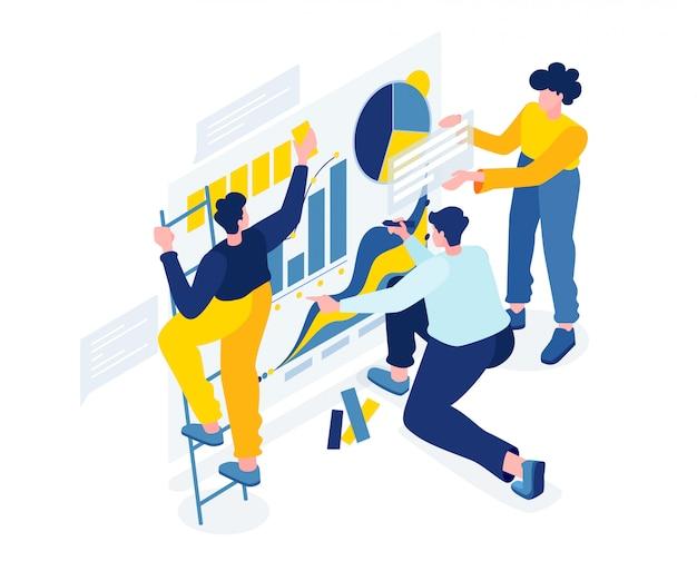 Un team creativo di persone che lavorano su un progetto,