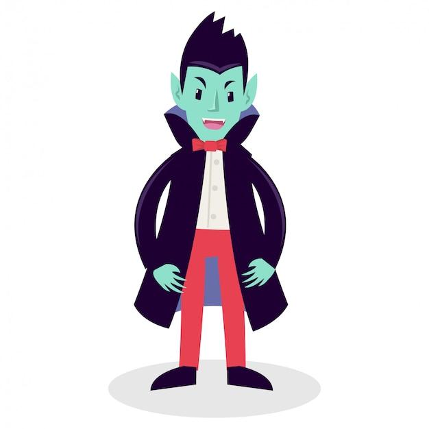 Un uomo che indossa un mantello da vampiro in festa di compleanno