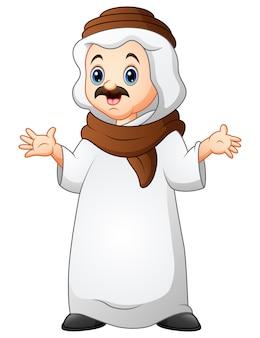 Un uomo musulmano in piedi con sciarpa