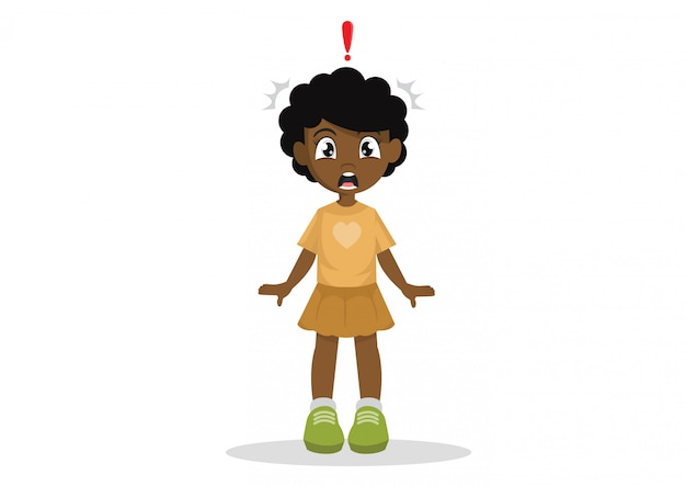 Una bambina africana scioccata.