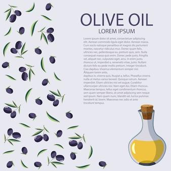 Una bottiglia di olio d'oliva su uno sfondo bianco