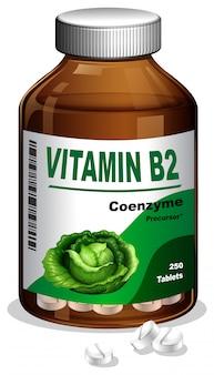 Una bottiglia di vitamina b2