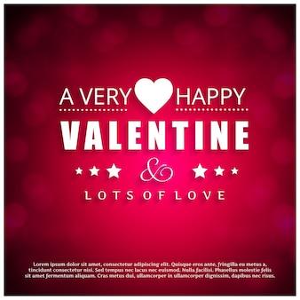 Una carta di san valentino molto felice