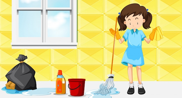 Una casa delle pulizie