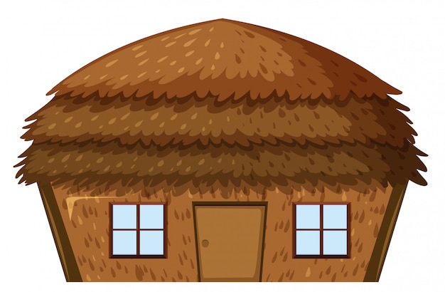 Una casa su sfondo bianco