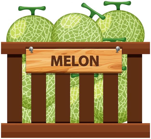 Una cassa di melone