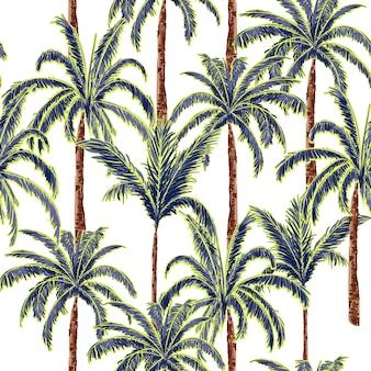 Una estate palme sullo sfondo foresta bianca.