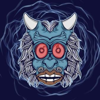 Una faccia da mostro demoniaco