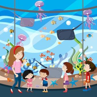 Una gita scolastica all'acquario