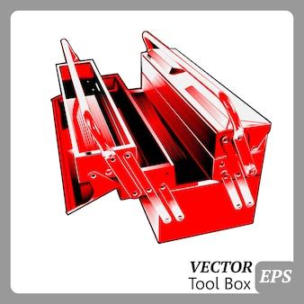 Una illustrazione vettoriale per cassetta degli attrezzi
