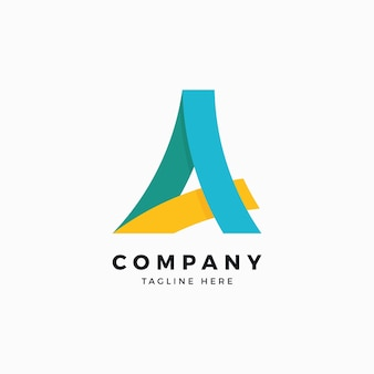 Una lettera logo design template