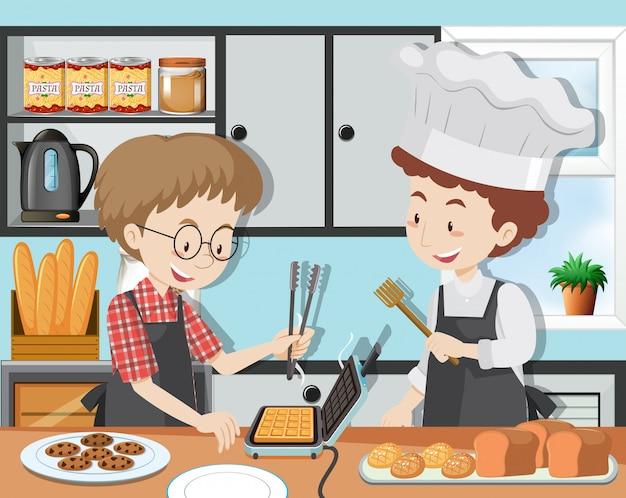 Una lezione di cucina con lo chef professionista