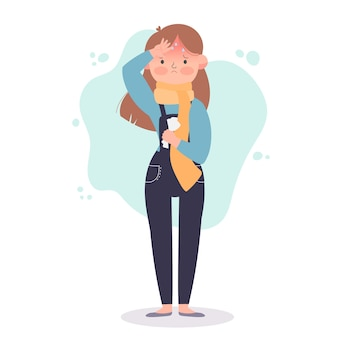 Una persona con la febbre