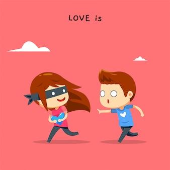 Una ragazza sta rubando il cuore di un ragazzo