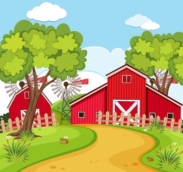 Una scena di casa rurale