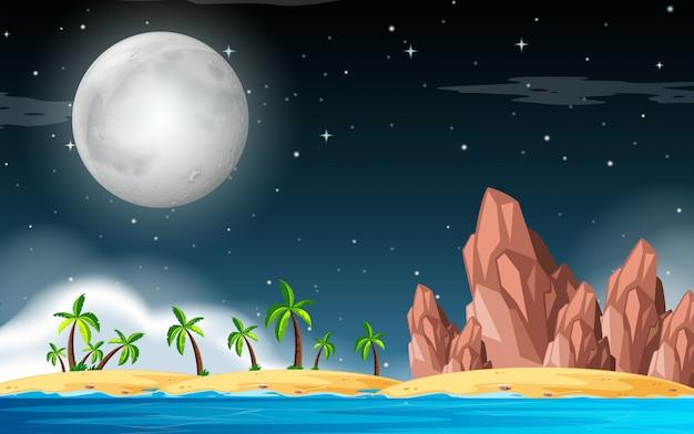 Una scena isola deserta