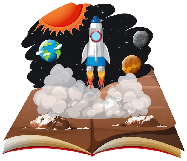 Una scena pop-up dello spazio del libro