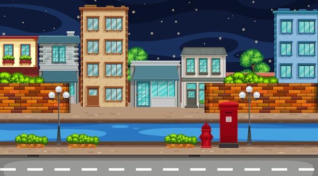 Una scena urbana notturna