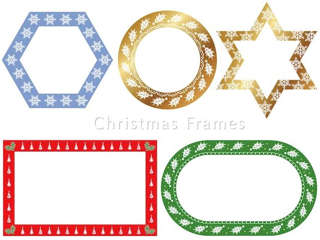 Una serie di cornici assortite per il periodo natalizio