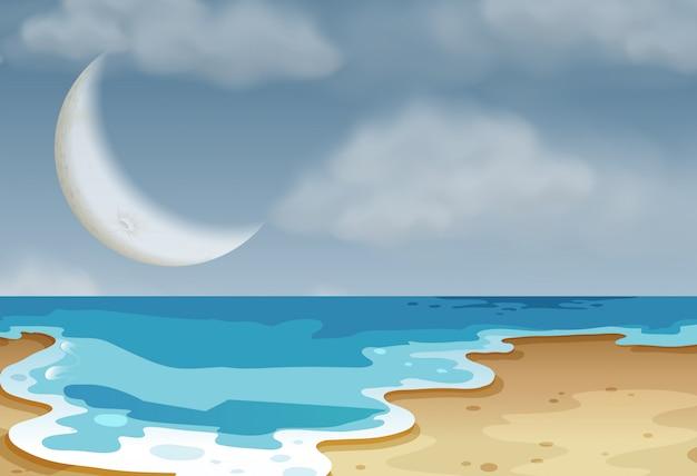 Una spiaggia naturale semplice