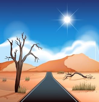Una strada al deserto