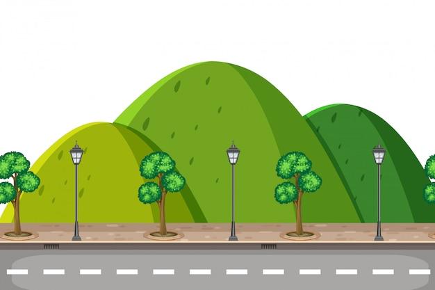 Una strada di montagna naturale
