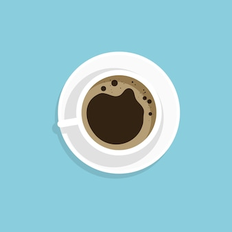 Una tazza di caffè nero