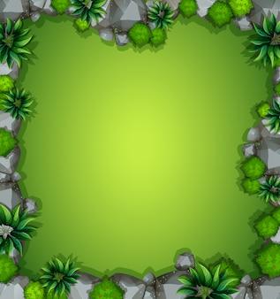 Una veduta aerea di sfondo giardino