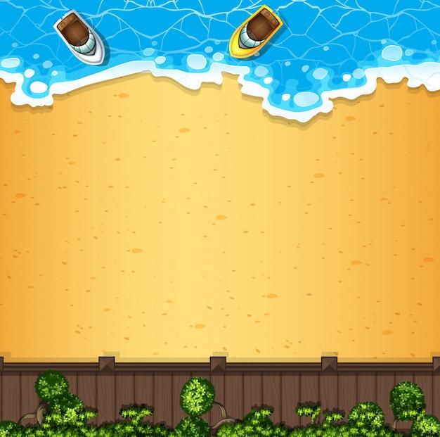 Una vista aerea della spiaggia