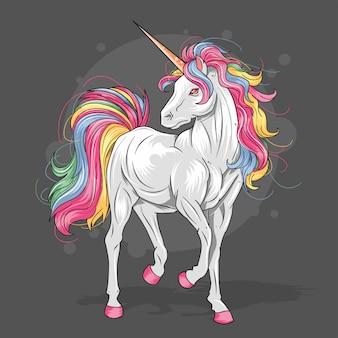 Uncorn full color rainbow