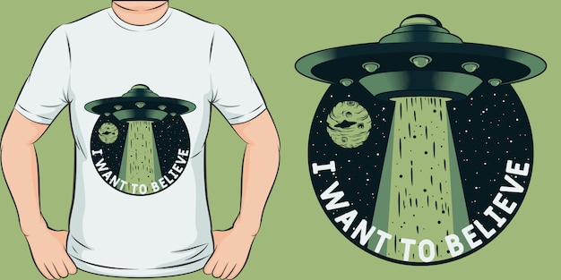 Unico e alla moda, voglio credere al design della maglietta
