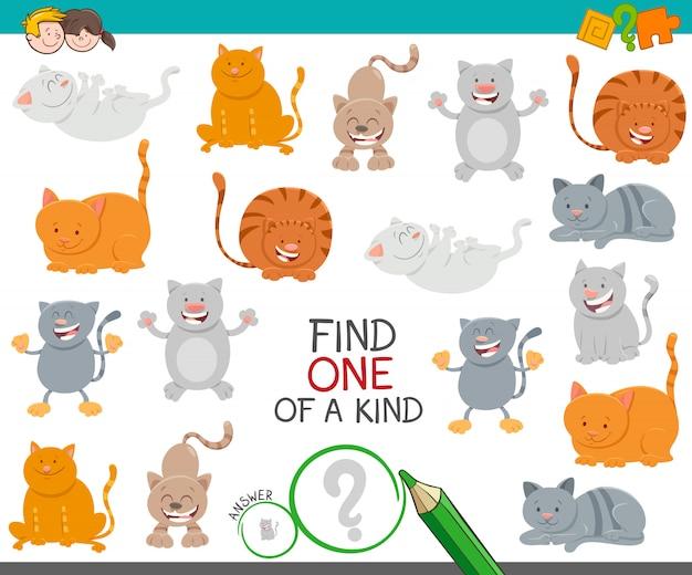 Unico gioco educativo con gatti