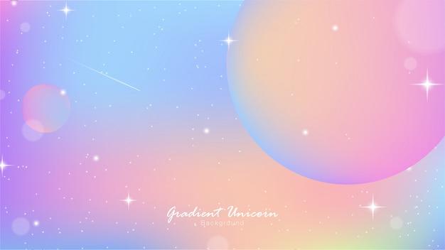 Unicorn sky colorful gradient