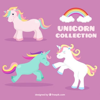 Unicorni colorati bel set