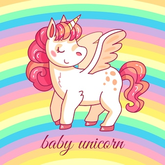 Unicorno carino bambino