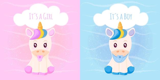 Unicorno carino è una ragazza è un ragazzo