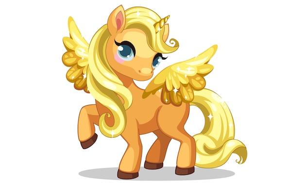 Unicorno carino piccolo bambino