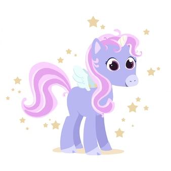 Unicorno colorato con stelle