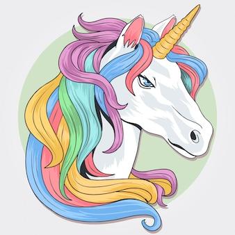 Unicorno di capelli di ranocchio