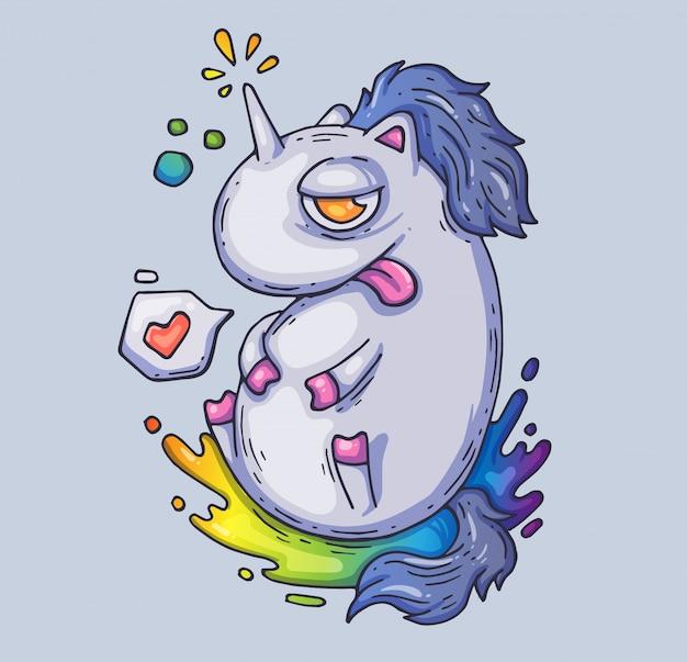 Unicorno fata divertente.