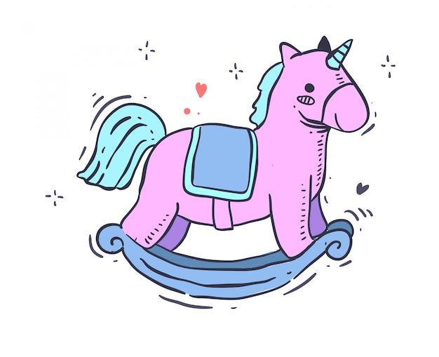 Unicorno in stile cartone animato