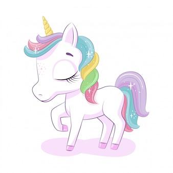 Unicorno magico carino.