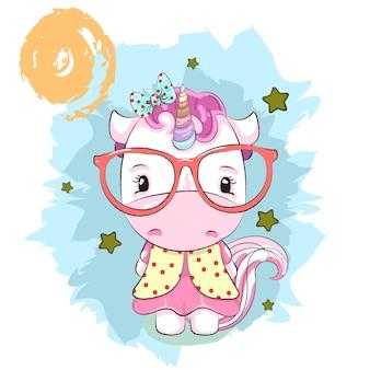 Unicorno ragazza carina