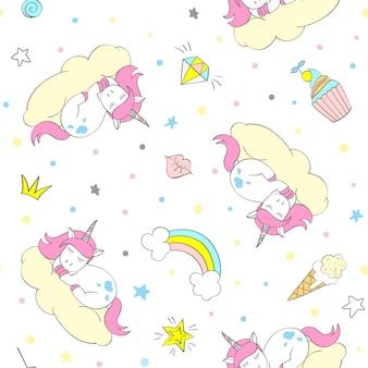 Unicorno seamless pattern