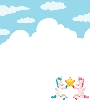 Unicorno sul modello del cielo