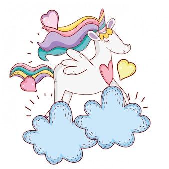 Unicorno sulle nuvole