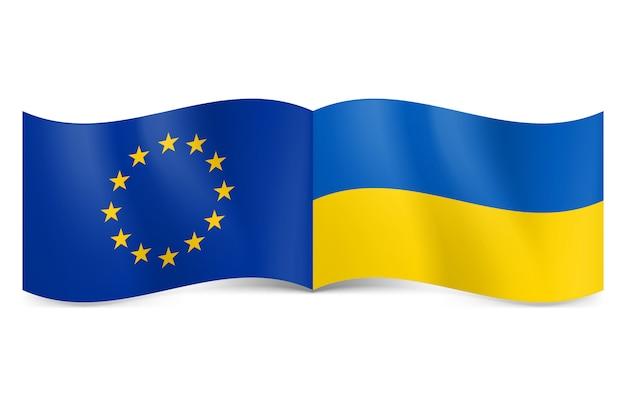 Unione europea e ucraina.