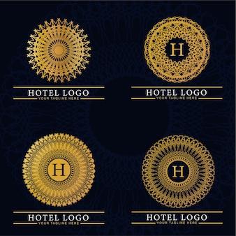 Unisci monogramma di lusso ed elegante logo